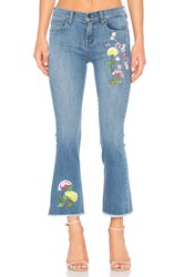 Ei8ht Dreams Embroidered Crop Flare Medium Wash