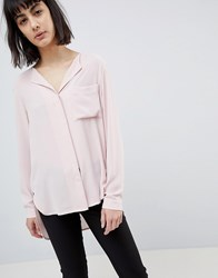 Selected Eco Long Sleeved Shirt In Recycled Fabric Pink
