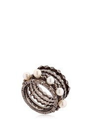 Colette Jewelry Entwined Diamond Black Gold Ring