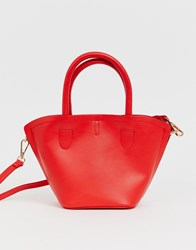Oasis Structured Cross Body Bag In Red