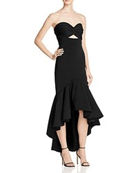 Jarlo Strapless High Low Flounce Gown Black