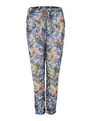 Brush Stroke Biba Beach Pants Black Multi