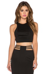 Aq Aq Dash Crop Top Black
