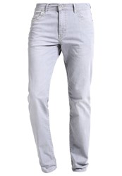 Bugatti Madrid Straight Leg Jeans Hellgrau Light Grey