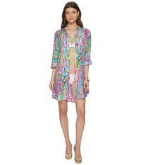 Lilly Pulitzer Natalie Cover Up Multi Catch The Wave Swimwear
