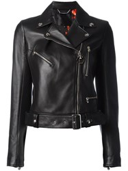 Philipp Plein Rainbow Biker Jacket Black