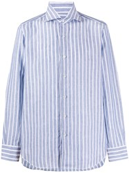 Barba Striped Curved Hem Shirt 60