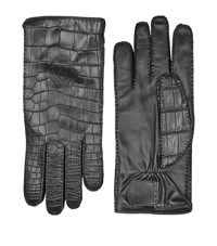 Billionaire Leather Gloves Unisex Black