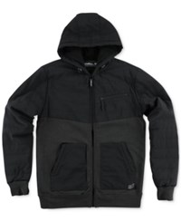 O'neill Men's Quadra Quilted Hooded Jacket Black