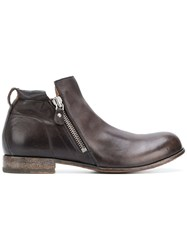 Moma Side Zipped Boots Brown