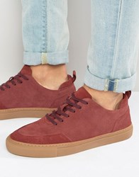 Zign Suede Trainers Red
