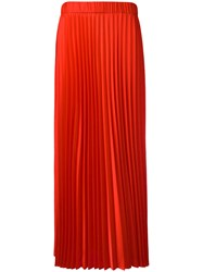 P.A.R.O.S.H. Long Pleated Skirt Red