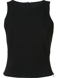 Martin Grant Boat Neck Tank Top Black