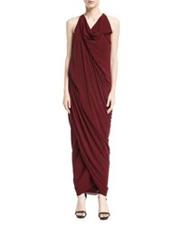Urban Zen Convertible Draped Jersey Maxi Dress Red