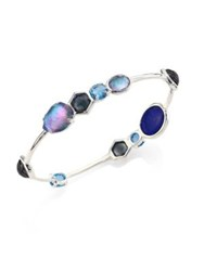Ippolita Ock Candy Eclipse Mixed Stone And Sterling Silver Bangle Bracelet Silver Blue