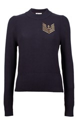 Baum Und Pferdgarten Caitrin Nautical Knit Sweater Navy