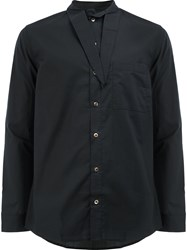 By Walid Tie Collar Shirt Black