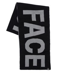 The North Face Reversible Logo Acrylic Scarf Grey