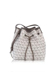 Lancaster Paris Ikon Small Coated Canvas Bucket Bag Stone