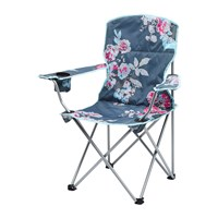 Joules Folding Picnic Chair Grey Floral