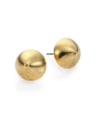 Nest Brushed Stud Earrings Gold