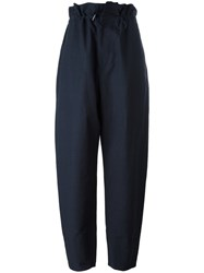 Stella Mccartney Paperbag Waist Baggy Trousers Blue