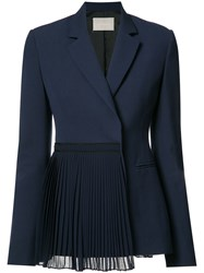 Jason Wu Pleated Panel Blazer Blue