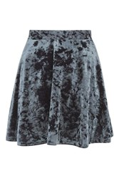 Topshop Velvet Flippy Skirt Grey