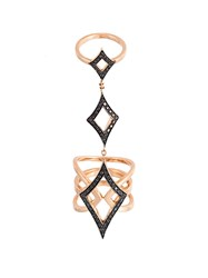 Anapsara 'Oneness' Black Diamond Ring Pink