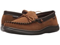 L.B. Evans Atlin Chestnut W Terry Lining Slippers Tan
