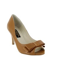 Marta Jonsson Women S Peep Toe Court Shoe Tan