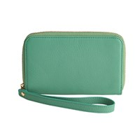 Graphic Image Wristlet Phone Wallet Robin's Egg Blue Plain