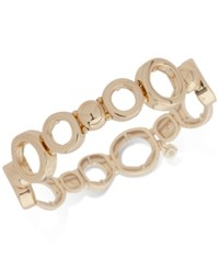 Nine West Open Link Stretch Bracelet Gold