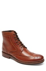 Rockport Men's Wyat Wingtip Boot Cognac Leather