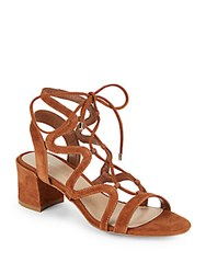 Saks Fifth Avenue Darci Lace Up Cage Sandals Ginger