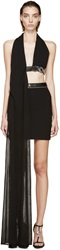 Versus Black Halter Anthony Vaccarello Edition Evening Gown