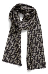 Hickey Freeman Men's Paisley Silk Scarf