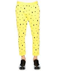 Dsquared Monster Embroidered Pants Yellow