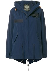 Mr And Mrs Italy Cropped Parka Jacket Blue
