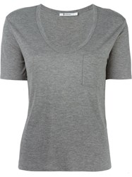 T By Alexander Wang Scoop Neck T Shirt Grey
