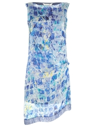 Damsel In A Dress Print Lucite Dress Blue