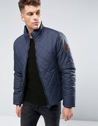 Blend Of America Padded Jacket Diamond Quilted 74627 Blue Nights Navy
