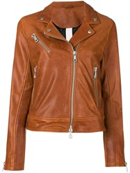 Giorgio Brato Front Zip Jacket Brown