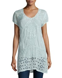 Johnny Was Kelso Short Sleeve Long Top Arctic Mint Women's Artic Mint