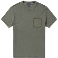 Woolrich Printed Pocket Tee Green