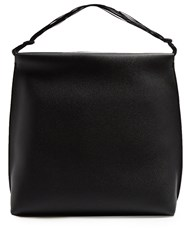 The Row Wander Leather Shoulder Bag Black