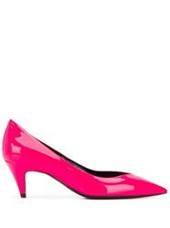 Saint Laurent Kiki Low Heel Pumps Pink