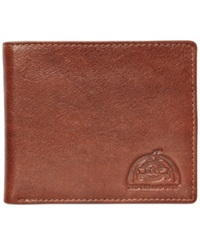 Dopp Carson Collection Rfid Slim Fold Bifold Wallet Dark Brown