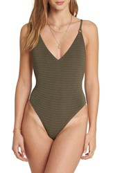 Billabong No Hurry One Piece Swimsuit Olive