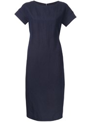 Strasburgo Cutout Sleeve Dress Blue